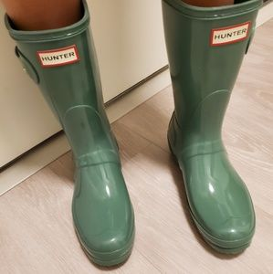 Short Glossy Hunter Boots